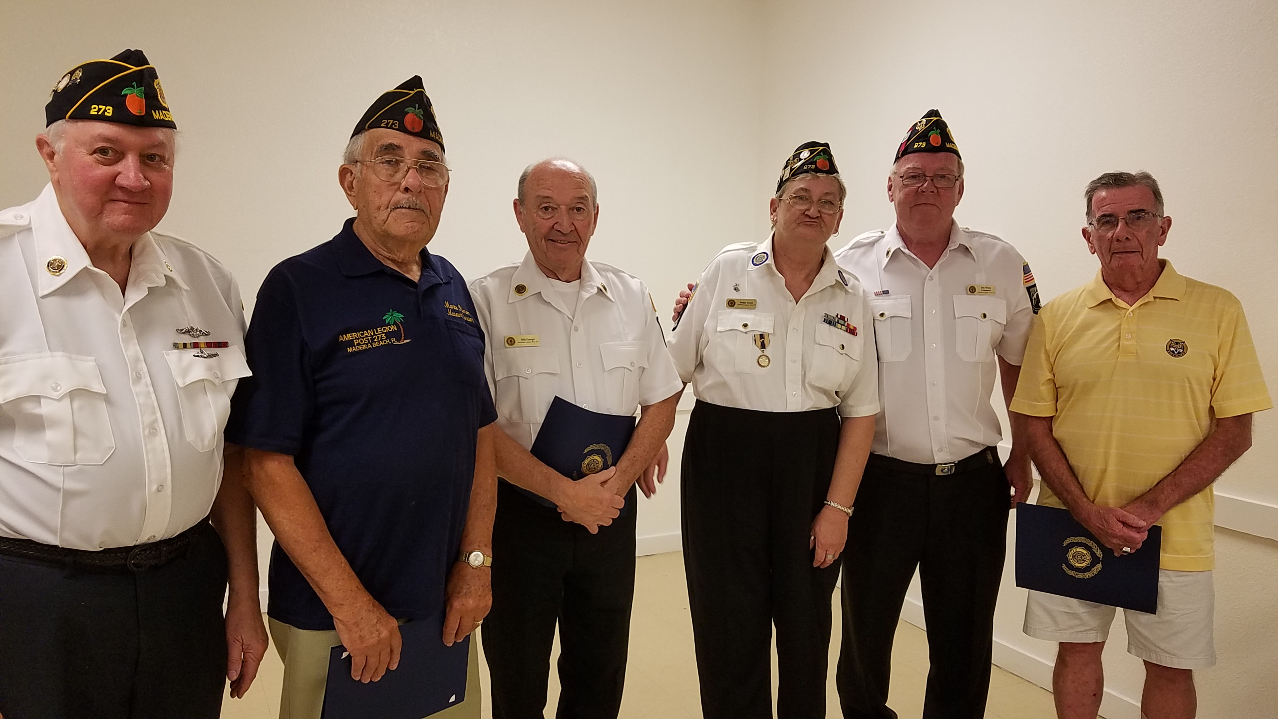 "April 5th: American Legion members named their ""Legionnaires Of The Year"" for 2014/2015/2016. Congratulations to Executive Officers Jack McCarrie, Bill Eusepi and Monte Palmer!"