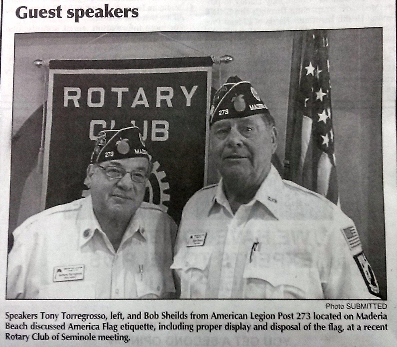 Seminole Rotary Club Presentation